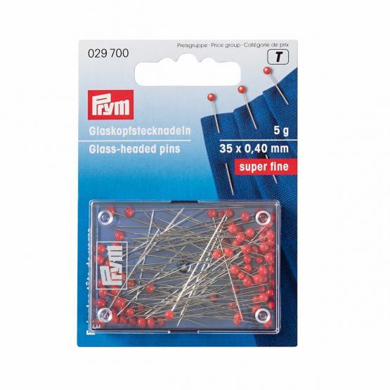 Prym Glaskopfnadeln SF 0,40 x 35 mm rot