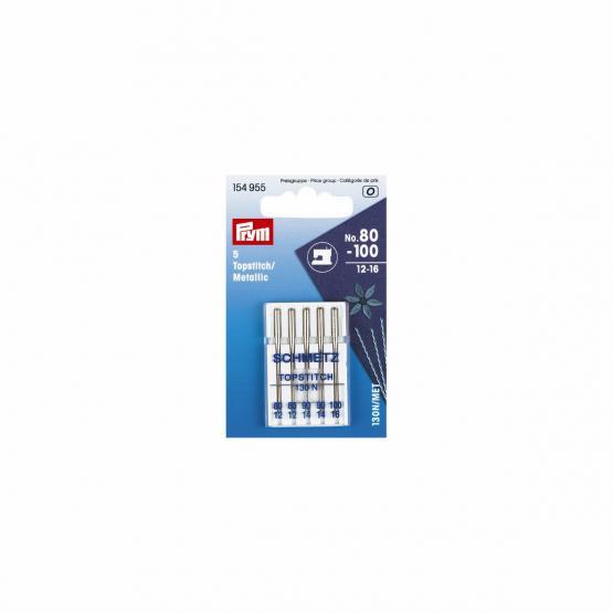Prym Naehmaschinennadeln Topstitch/Metallic 80-100