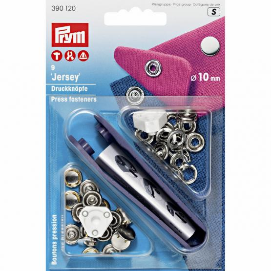 Prym NF-Druckknopf Jersey gl. Kappe MS 10 mm silberfarbig