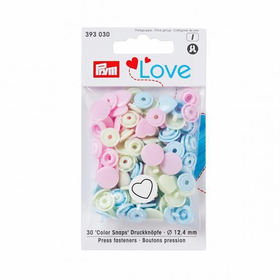 Prym Love Color Snaps Herz 12,4 mm