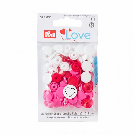 Prym Love Color Snaps Herz 12,4 mm