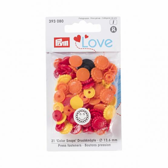 Prym Love Color Snaps Blume
