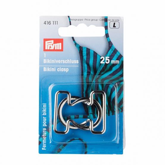 Prym Bikini- und Guertelverschluss MET 25 mm silberfarbig
