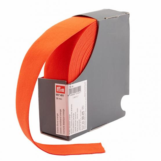 Prym Elastic-Bund 38 mm orange