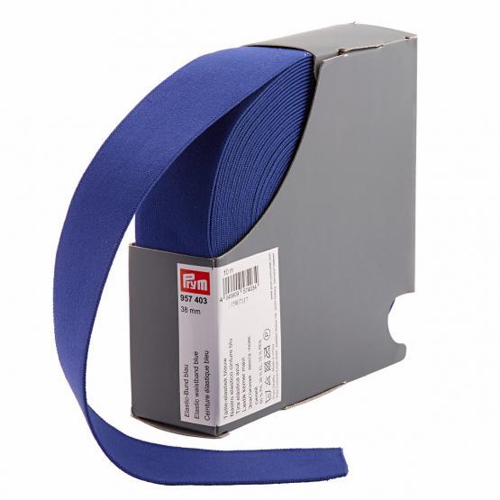 Prym Elastic-Bund 38 mm blau