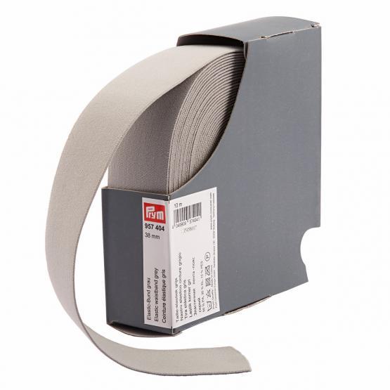Prym Elastic-Bund 38 mm grau