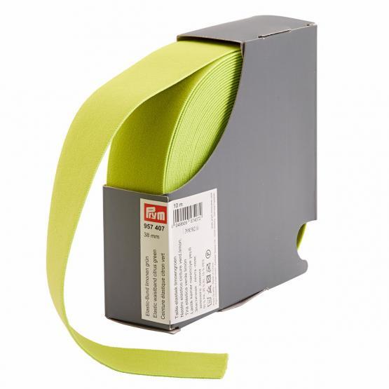Prym Elastic-Bund 38 mm limonengruen