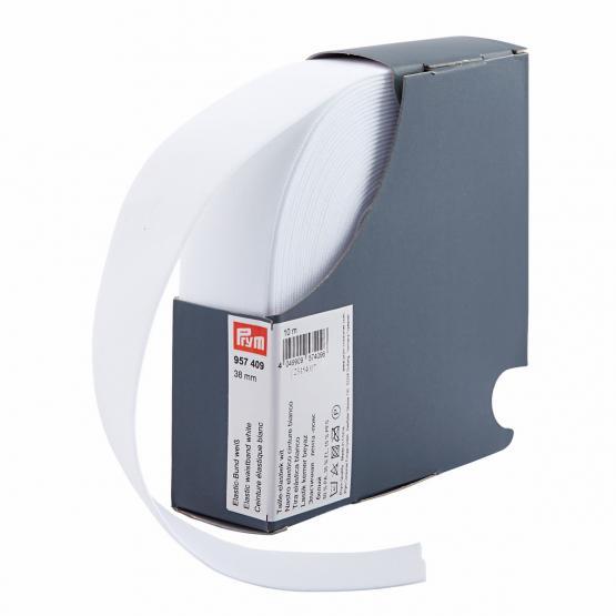 Prym Elastic-Bund 38 mm weiss