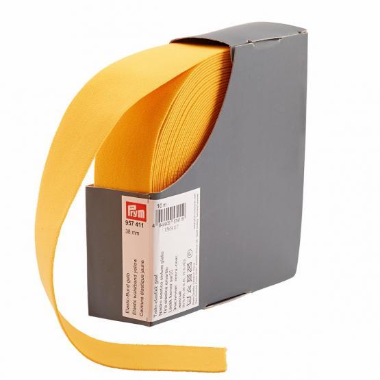 Prym Elastic-Bund 38 mm gelb