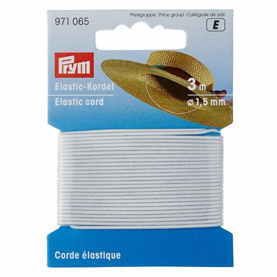 Prym Elastic-Kordel 1,5 mm weiss
