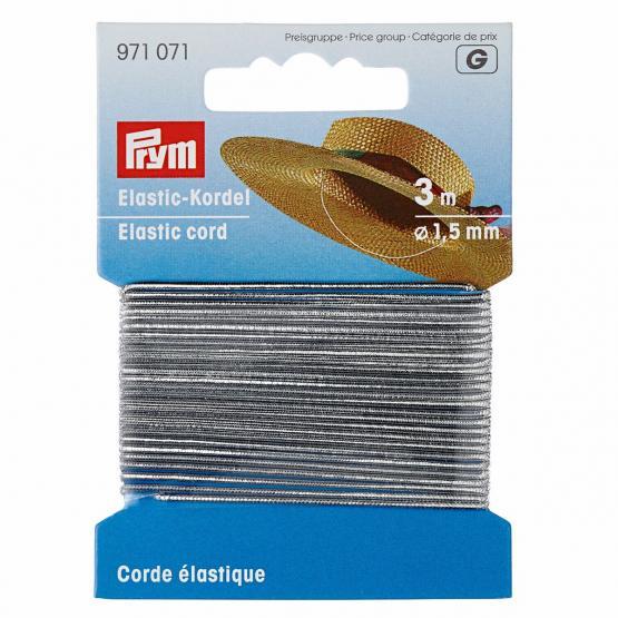 Prym Elastic-Kordel 1,5 mm silber