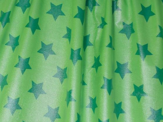 Jersey Raincoat Sterne grün