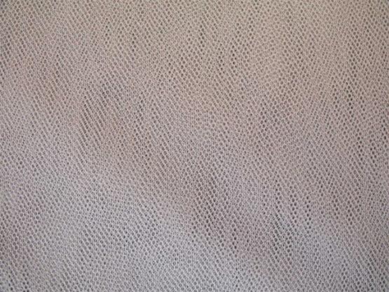 Wabentüll Farbe silber