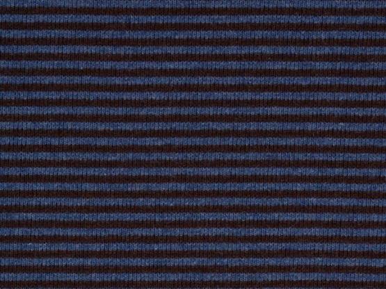 Ringelbündchen braun/blau