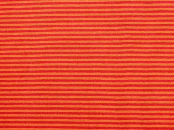 Ringelbündchen orange/rot