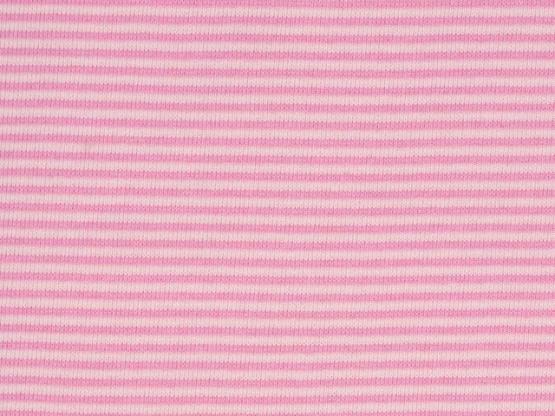 Ringelbündchen rosa/rosa