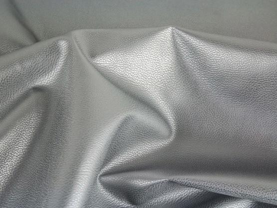 Lederimitat Rex metallic silber