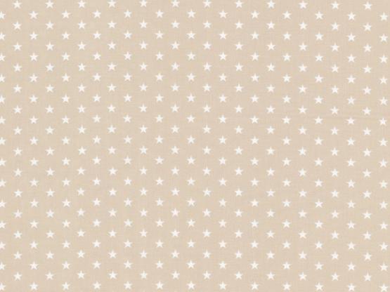 Baumwolle Sterne beige
