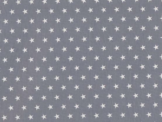 Baumwolle Sterne grau