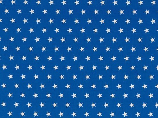 Baumwolle Sterne royalblau