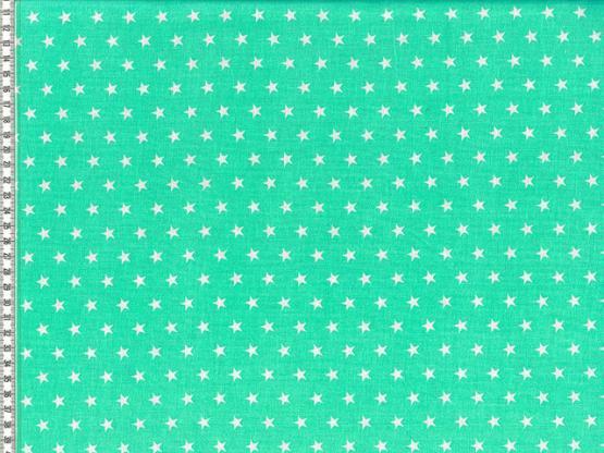 Baumwolle Sterne mintgruen