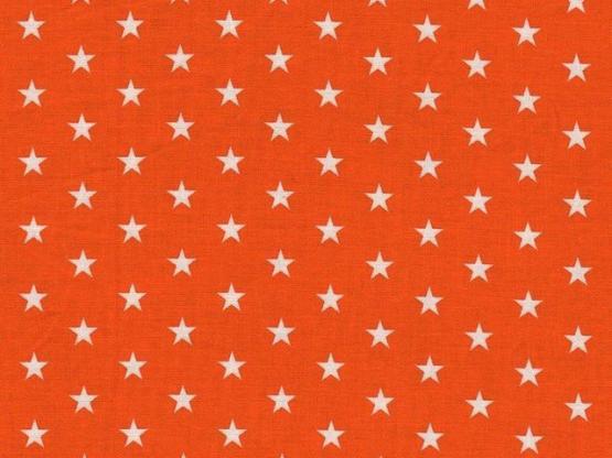 Baumwolle Sterne orange