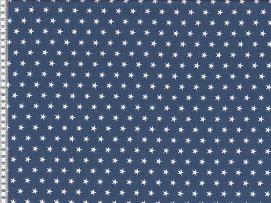 Baumwolle Sterne jeansblau