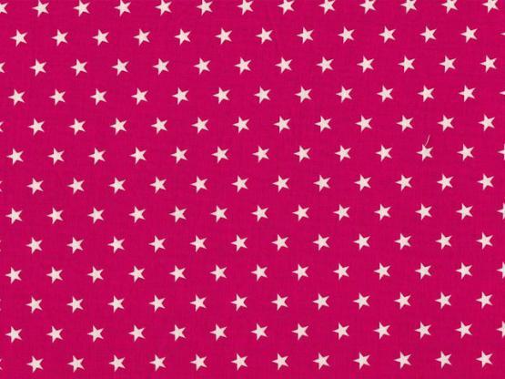 Baumwolle Sterne pink