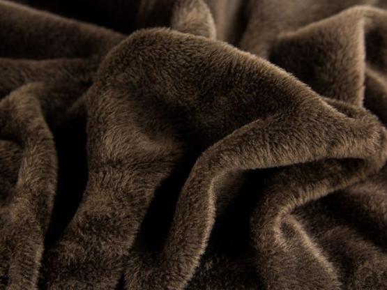 Wellness-Fleece braun