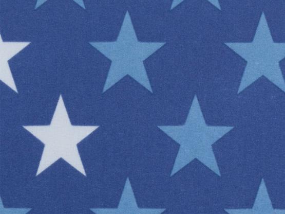 Nano-Softshell Sterne blau/weiss
