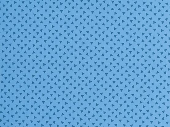 Baumwolle Philipp blau Dreiecke