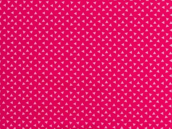 Baumwolle Philipp pink Dreiecke