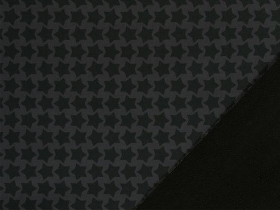 Nano-Softshell Sterne schwarz/grau