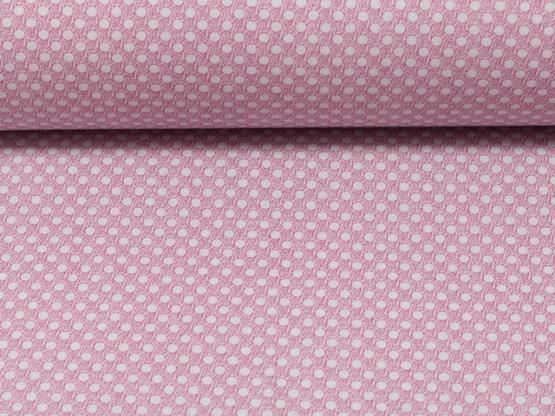 Baumwollstoff Punkte grau/rosa