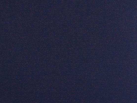Glitzer Bündchen dunkelblau/kupfer