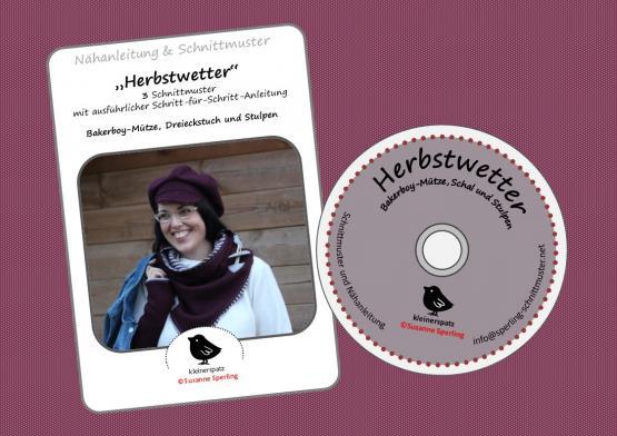 CD Herbstwette Dreieckstuch/Stulpen/Kappe