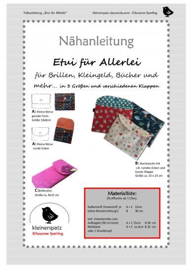 Etui  Allerlei Handy, Buch, iPad