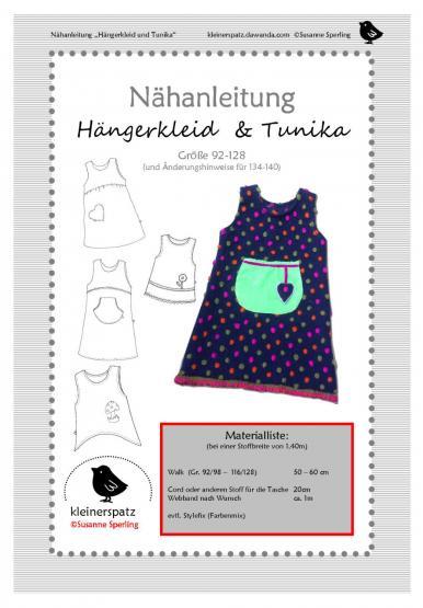 Hängerkleid/Tunika 92/98 - 128