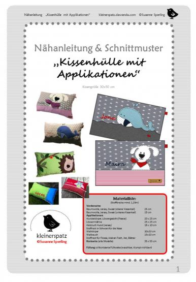 Kissen Löwe/Hund/Eule