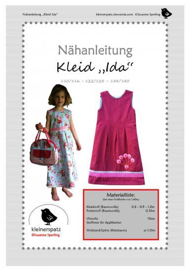 Kleid Ida Gr. 110/116 - 134/140