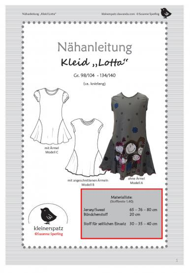 Kleid Lotta Gr. 92 - 128