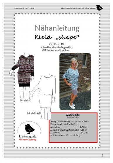 Kleid Shape Gr. 36 - 48