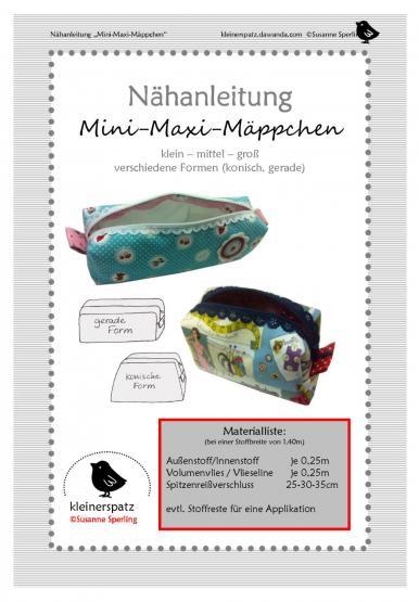 Mini-Maxi-Mäppchen 3 Größen