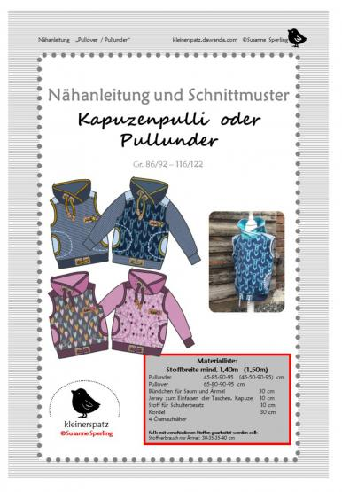 Pullover/Pullunder Gr. 86/92 - 116/122