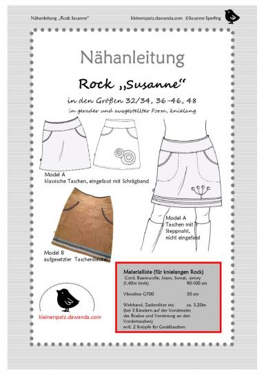 Rock Susanne Gr. 32/34 - 48