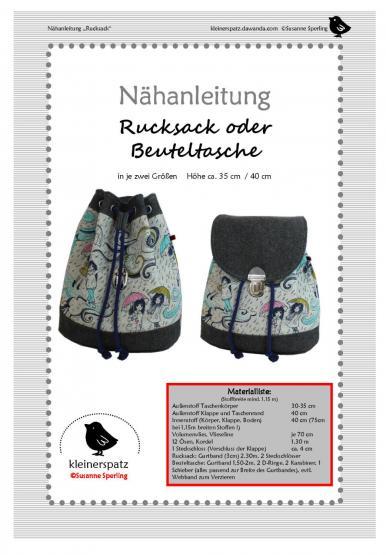 Rucksack/Beuteltasche