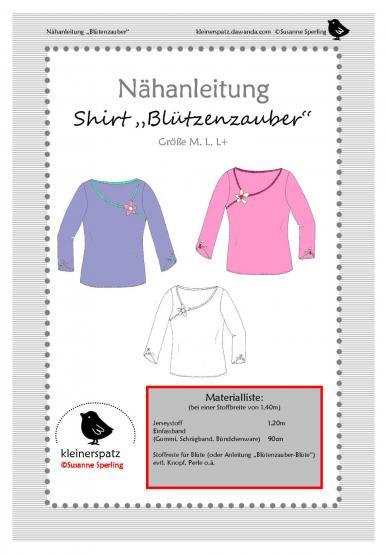 Shirt Blütenzauber Gr. M - XL