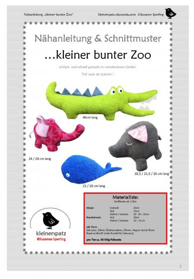Stofftiere bunter Zoo