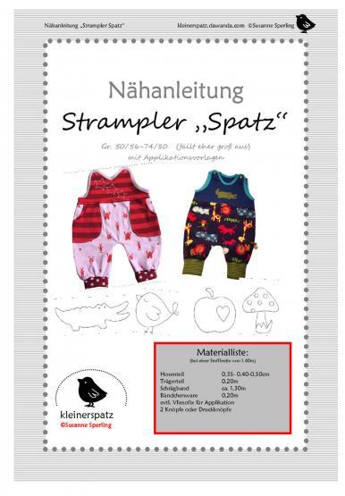 Strampler Spatz 50/56 - 74/80