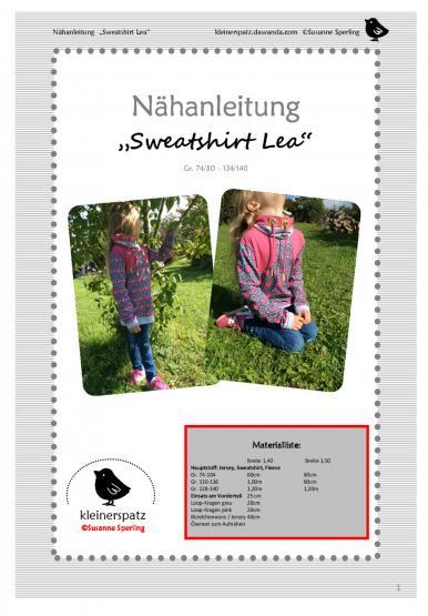 Sweat Lea Gr. 74/80 - 134/140